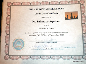 Astronomical League: Urban Observing Club