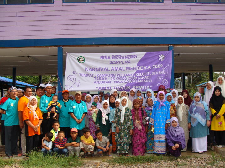 Bersama amilin AMAL dan NISA serta penduduk kampung