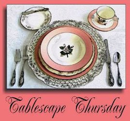 Tablescape Thursday, Come Play in the dishes