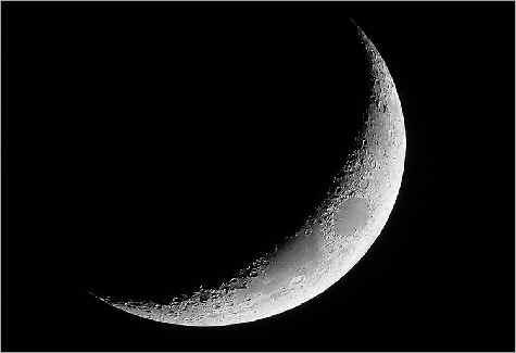 Quoi de neuf dans l'espace ?: Croissant de lune de ...