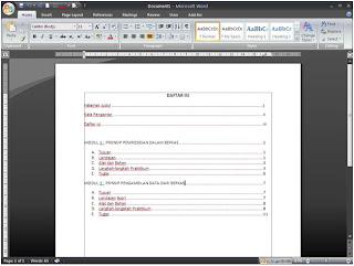 cara membuat daftar isi dengan microsoft office akm.web.id