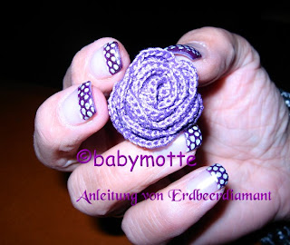 Babymotte Crochet Rose Nach Anleitung Von Erdbeerdiamant