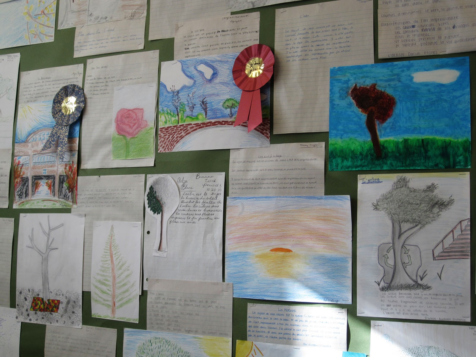 1f001d261ab53 Madame Frederickson's French 5-6 students viewed paintings by some of the  most prominent French impressionists, did a written response to one work,  ...