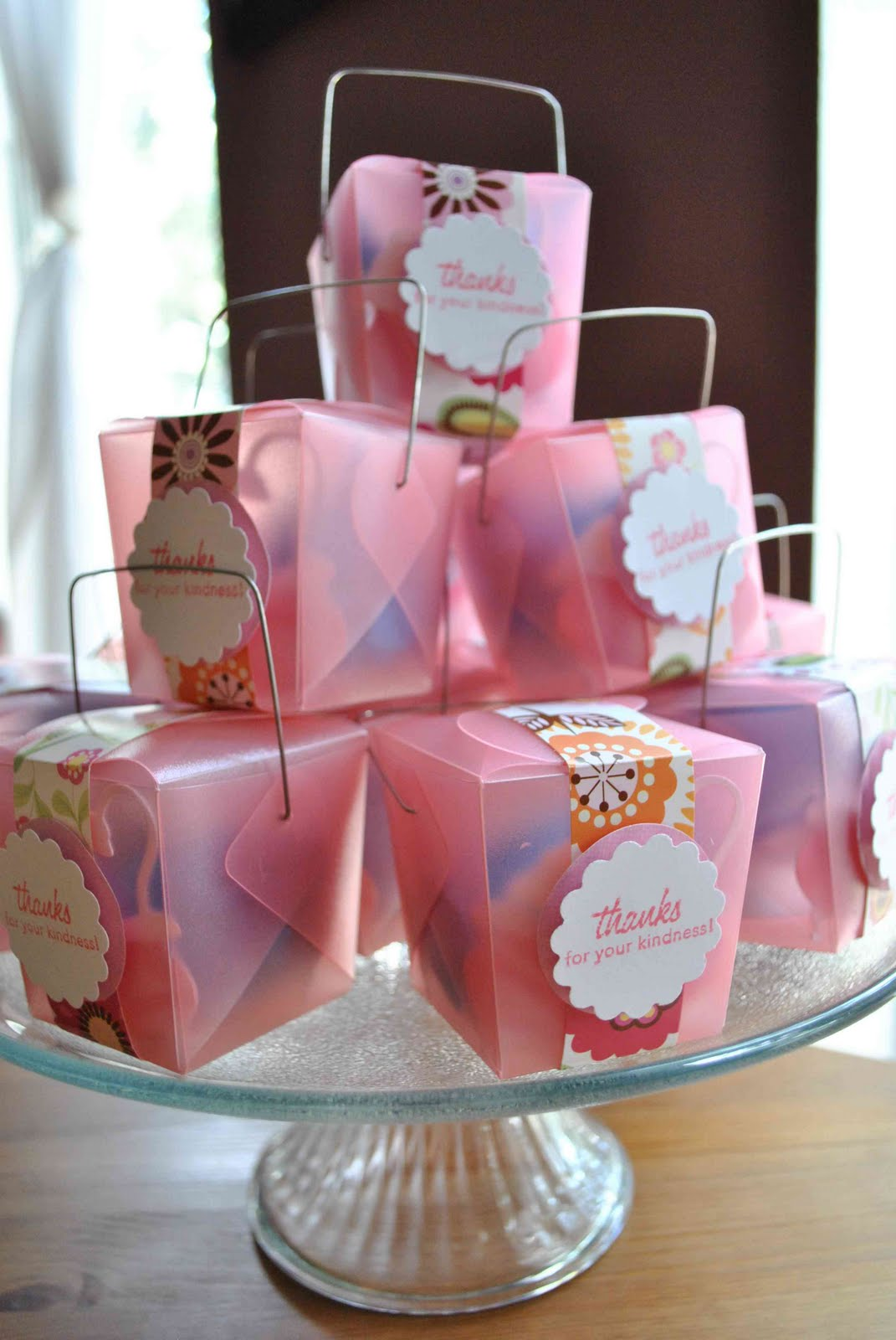 Clearlytangled.: Handmade Baby Shower Favors
