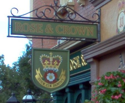 Details Of Disney Rose And Crown Pub
