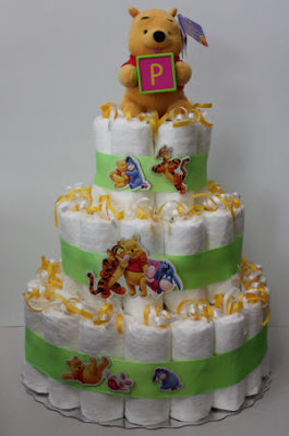 Diaper Cakes From Creatif Mother Winnie The Poo Diaper Cakes