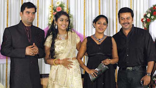M G Sreear Indrajith With Family In Navya Nair Wedding