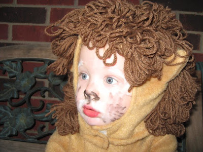 Oliver as The Cowardly Lion