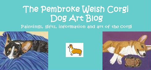 The pembroke welsh corgi dog art blog