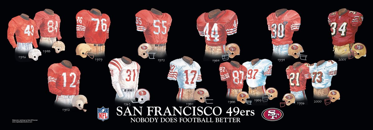 San Francisco 49ers Uniform and Team History  a7e548665