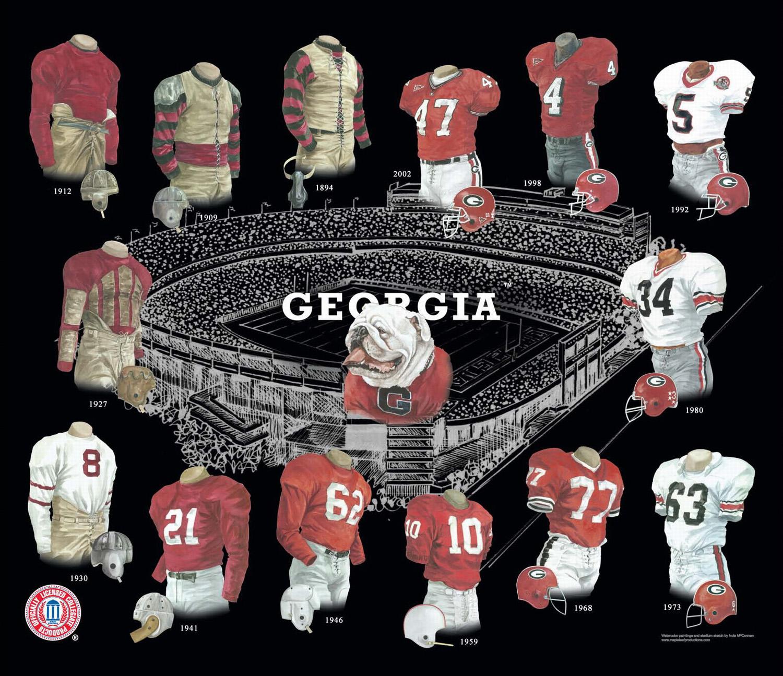 0d4d42658a2 University of Georgia Bulldogs Football Uniform and Team History ...