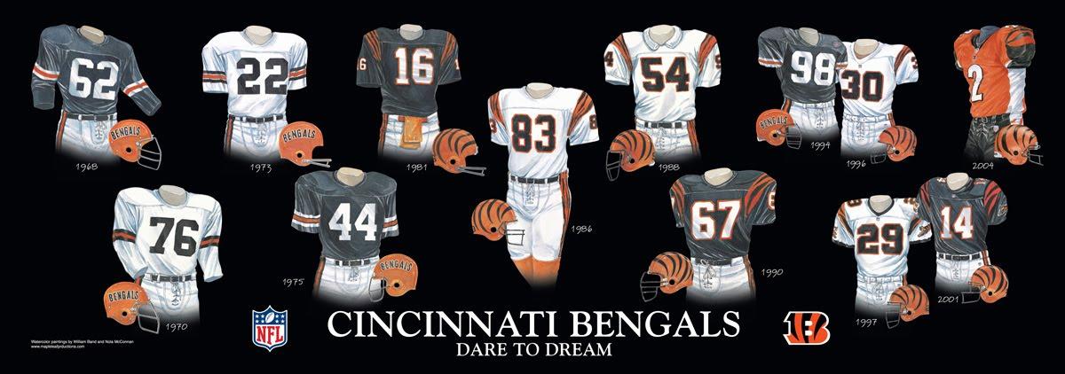 905e5f65 Cincinnati Bengals Uniform and Team History | Heritage Uniforms and ...