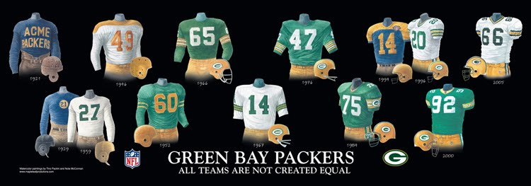save off 8bbb6 de53f Green Bay Packers - Home Stadiums | Heritage Uniforms and ...