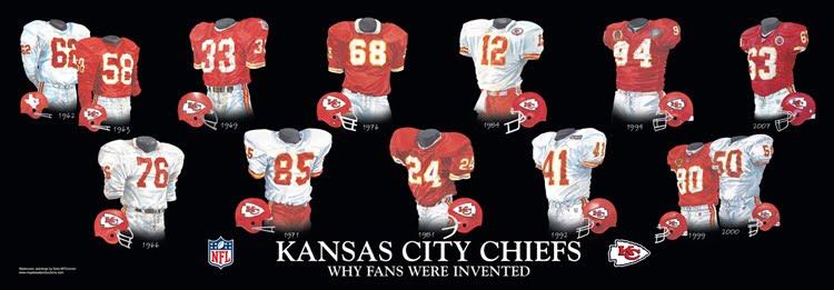 sale retailer 2a6af a28f8 Kansas City Chiefs - Home Stadiums | Heritage Uniforms and ...