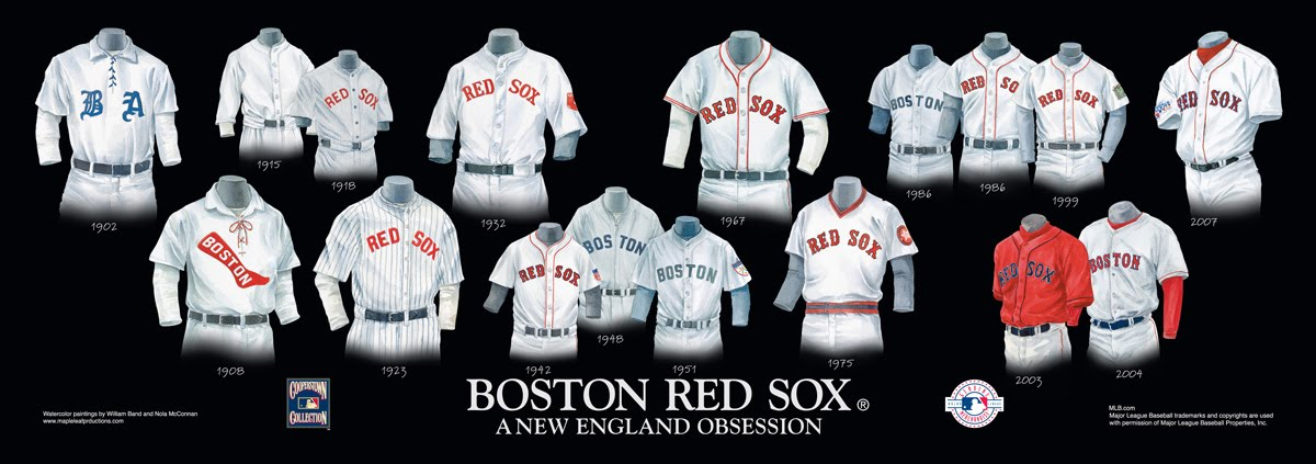40e111546 Boston Red Sox Uniform and Team History