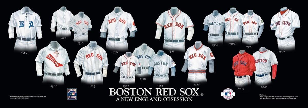 Boston Red Sox Uniform and Team History  7b9ec1d79fa