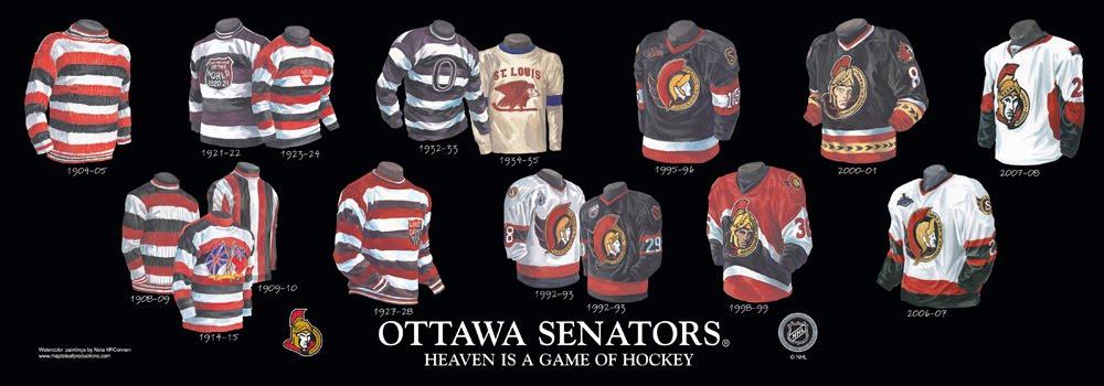 1771a1878 Ottawa Senators - Franchise, Team, Arena and Uniform History ...