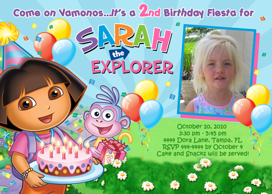 Dora Birthday Invitation Template 550 X 393 188 Kb Jpeg Posted By Kelly Wortel At
