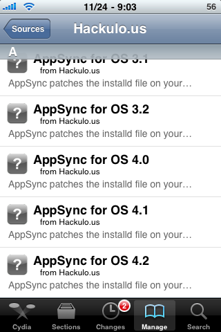 Install Cracked Apps on iOS 4.2.1 with AppSync 4.2