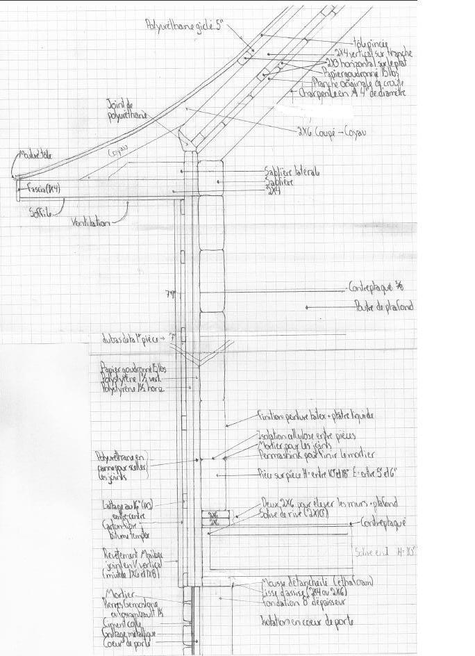 la qu b coise en montagne coupe type d 39 un mur. Black Bedroom Furniture Sets. Home Design Ideas