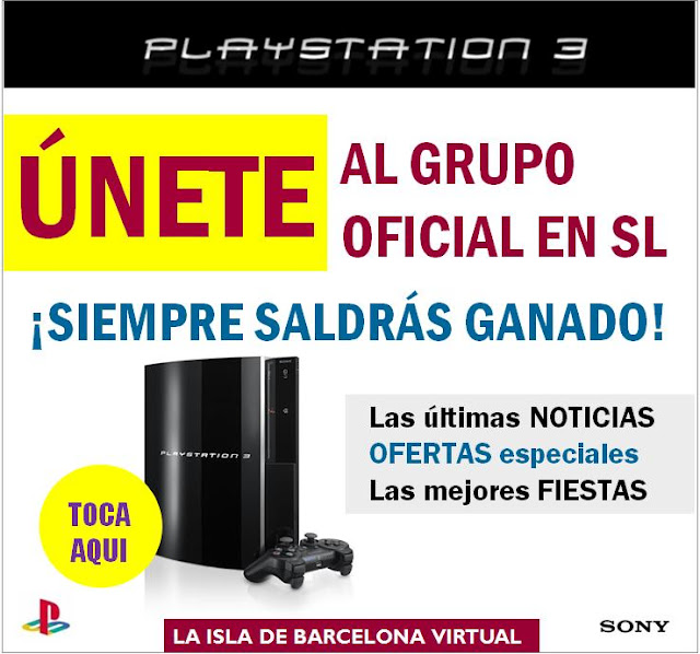 La campaña en Second Life, creada por Barcelona Virtual para Sony PlayStation 3