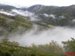 nieblas y otoño en el valle del jerte