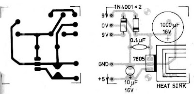 world technical: Power Supply 5V 1A by IC 7805