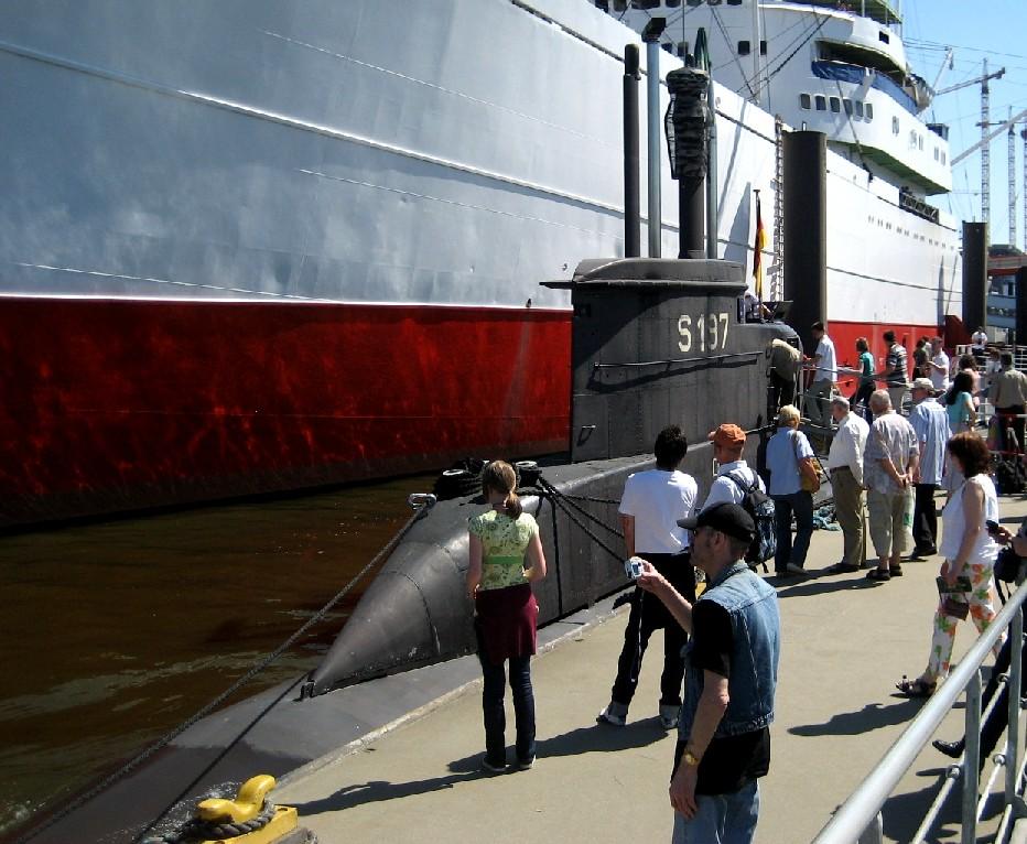 okręty, port i Hamburg