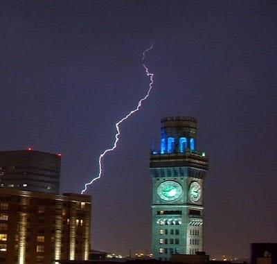 Picture of lightning over Baltimore.