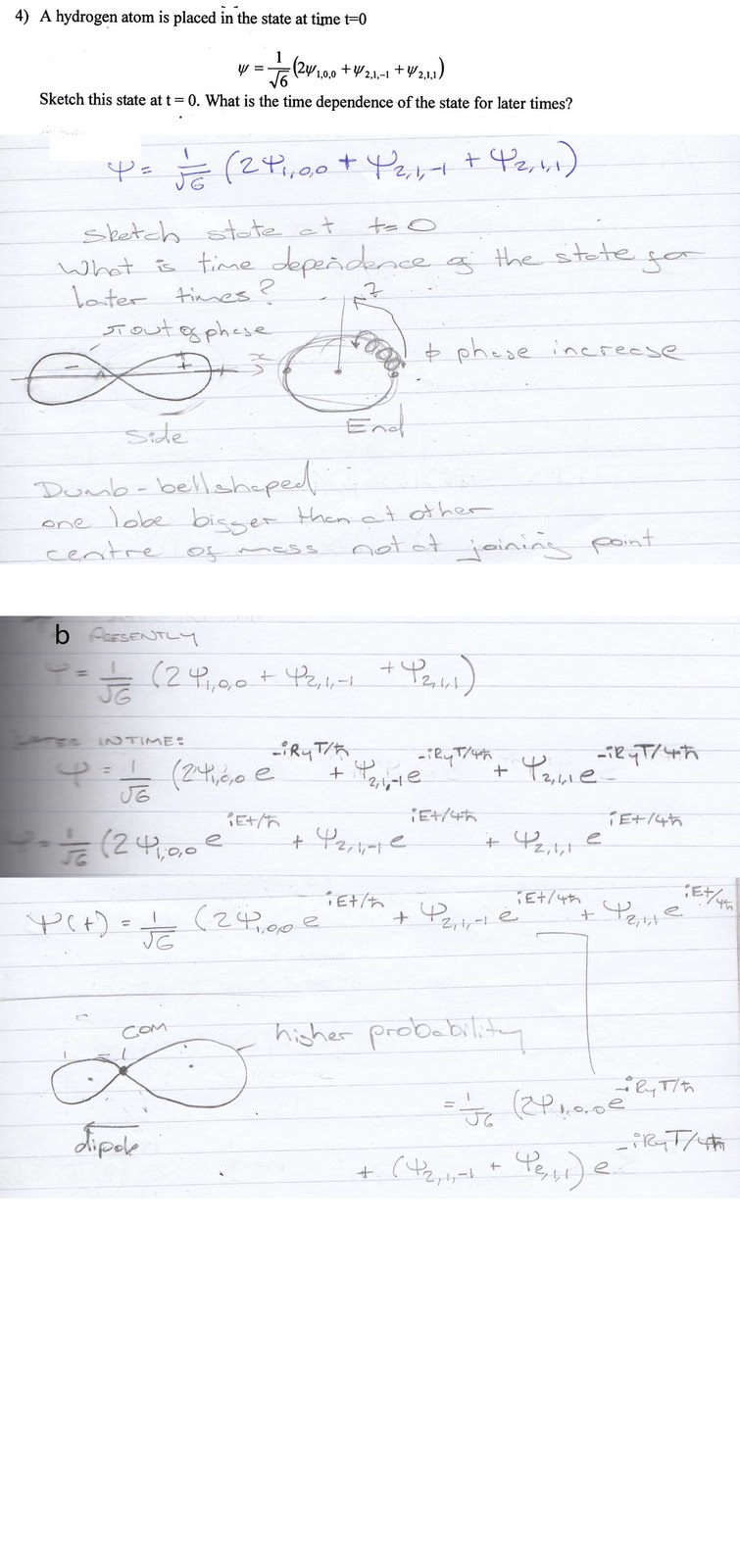 My Lecture Notes: PHYS3008 Problem Sheet 1