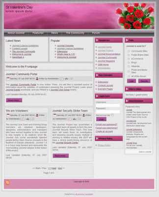 joomla valentines day template