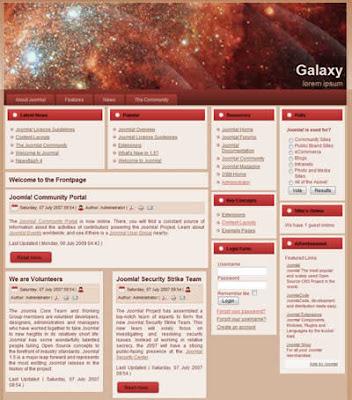 business joomla template galaxy