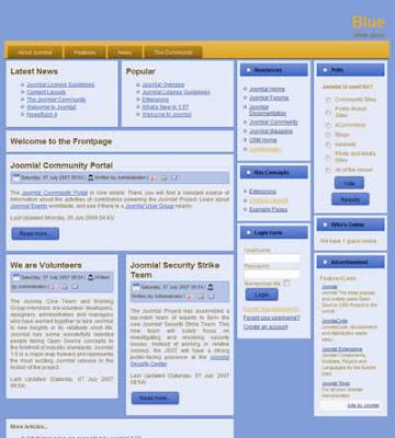 joomla 1.5 template business blue