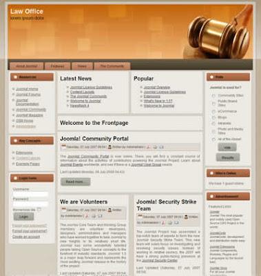 joomla template law