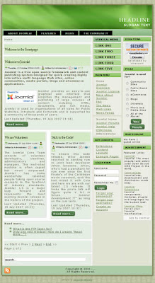 free joomla 1.5 template with green header