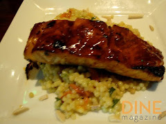 10 Spiced Glazed Salmon with Curried Couscous
