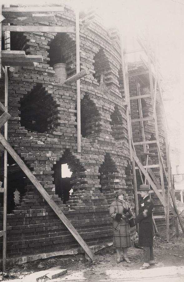 B L O G: Melnikov's house during construction