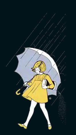 The Morton Salt umbrella girl: