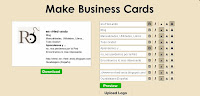 tarjetas, visita, diseño, tarjetas, presentación