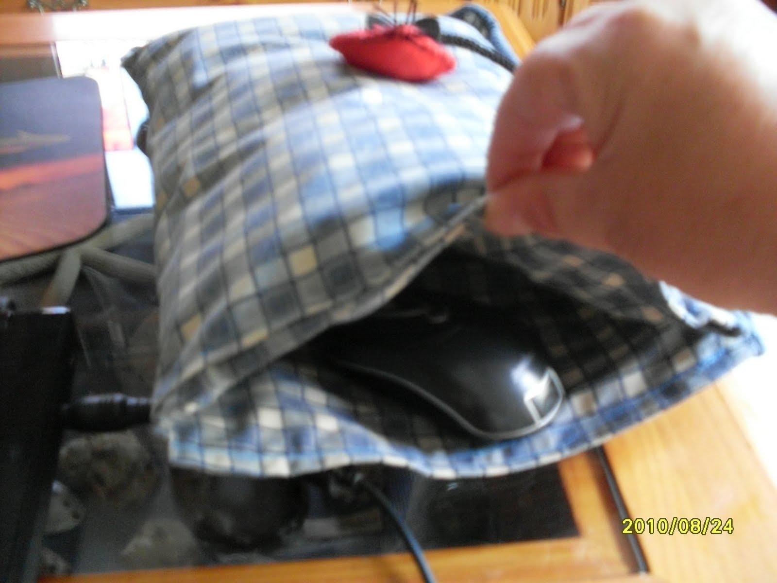 almohadilla, ratón, pc, manos frías, funda, costura