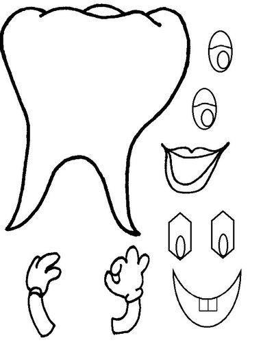 dientes, infantil, organizar, lavado dientes, plantillas