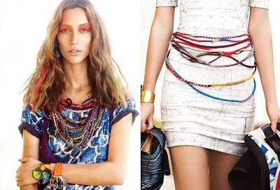 Como hacer Collares y Cinturones enrollados con hilos de colores