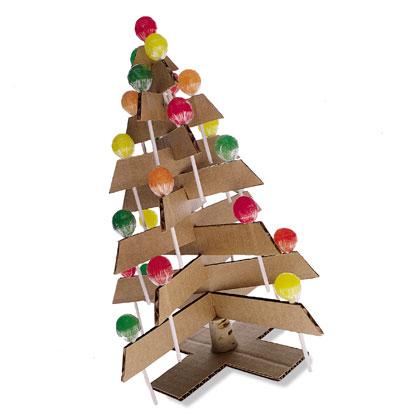 Como hacer un arbol de navidad con chupa chups enrhedando - Como hacer un arbol de navidad de carton ...