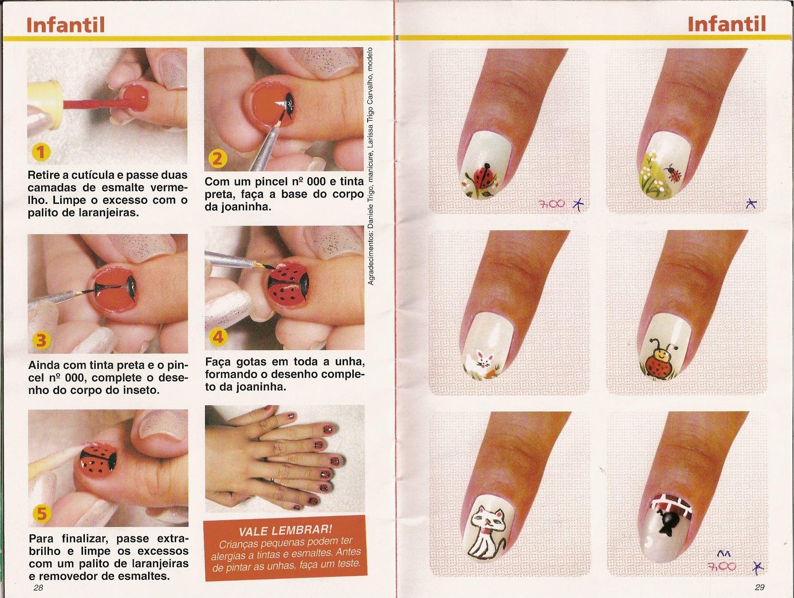 uas decoradas manos y pies tutoriales revistas