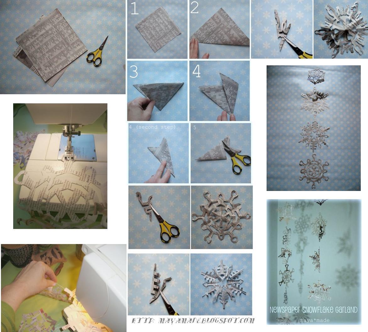 Enrhedando manualidades - Cortinas de papel para navidad ...