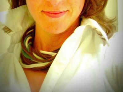 pañuelos, reciclar, collar, trapillo, tutoriales, manualidades