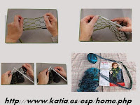 bufandas, triana, rizos, ondas, lana, malla, katia, labores, tejer, tricot