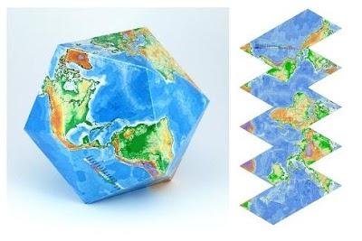 Plantillas Geométricas Mapas del Mundo