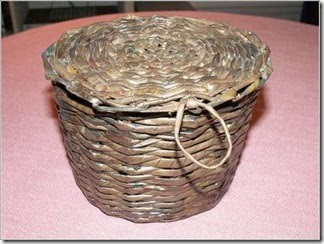 cestos, cestas, papel, manualidades, reciclar, construir