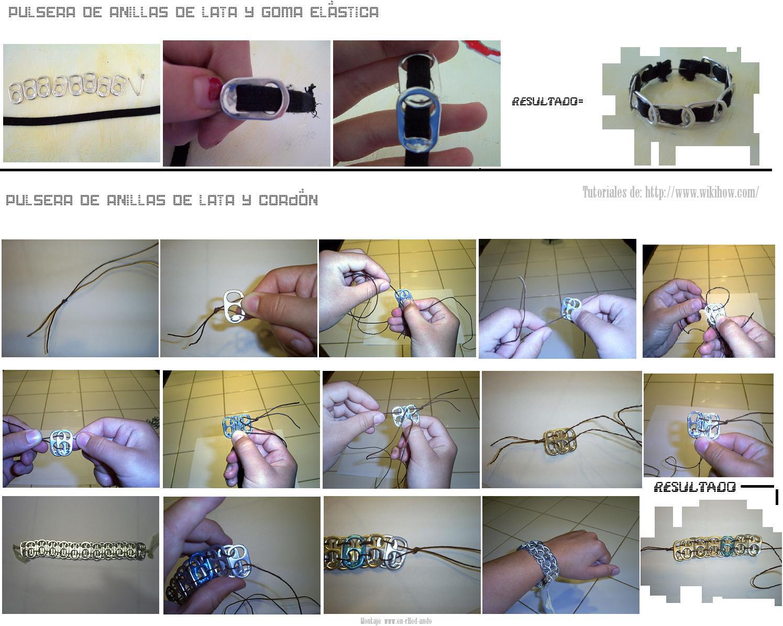 anillas, latas, pulseras, bisuteria, refrescos, manualidades